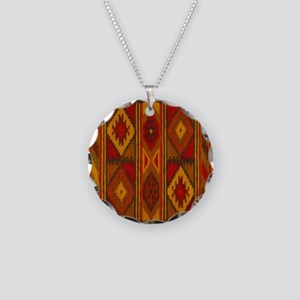 Indian Blanket 5 Necklace Circle Charm