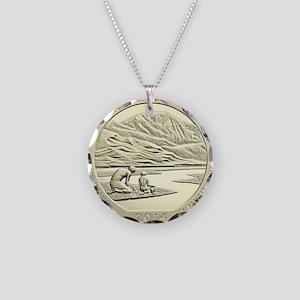 Colorado Quarter 2014 Basic Necklace Circle Charm