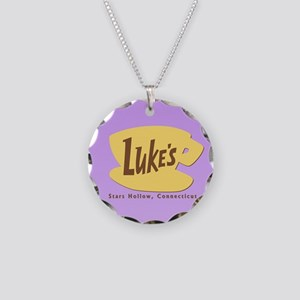Luke's Diner Necklace Circle Charm