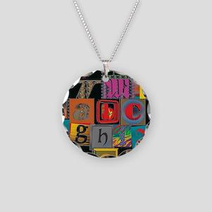 ABCDEFG Necklace Circle Charm