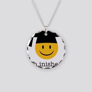 phd smiley Necklace Circle Charm