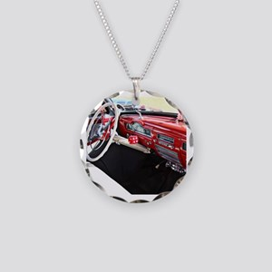 Classic car dashboard Necklace Circle Charm