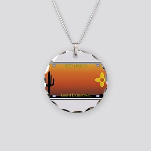 New Mexico License Plate Necklace Circle Charm