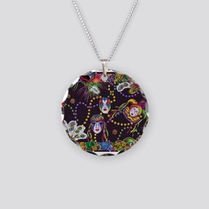 Best Seller Mardi Gras Necklace Circle Charm