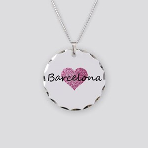 Barcelona Necklace Circle Charm