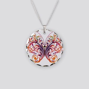 Scroll Butterfly Necklace