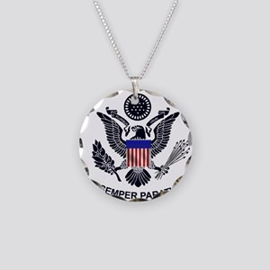 uscg_flg_d1 Necklace Circle Charm