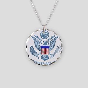 uscg_flg_d2 Necklace Circle Charm