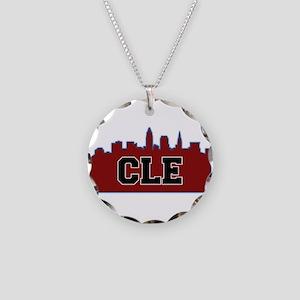 CLE Maroon/Black Necklace