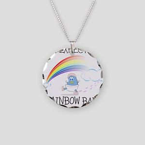 EXPECTING RAINBOW GIRL Necklace Circle Charm