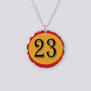 Number 23 Necklace Circle Charm