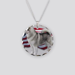 Made in America Necklace Circle Charm
