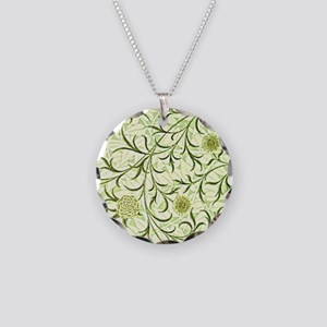 William Morris design: Scrol Necklace Circle Charm