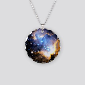 Star Cluster Necklace Circle Charm