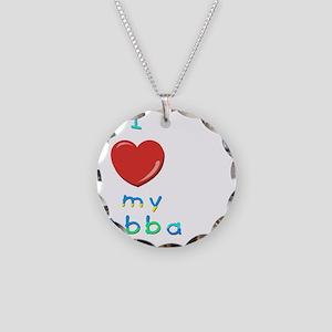 I love my abba Necklace Circle Charm