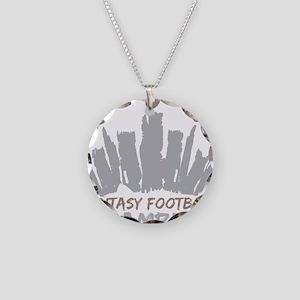 Fantasy Football Champion Necklace Circle Charm