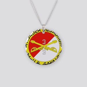 3-3D ARMORED CAVALRY REGIMEN Necklace Circle Charm