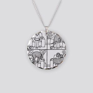 Poppy The Lapdog Necklace Circle Charm