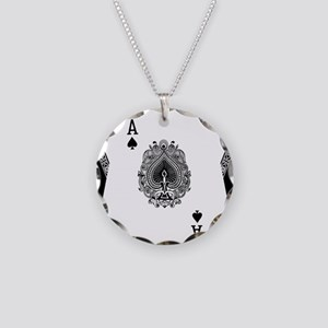 Ace of Spades Necklace Circle Charm