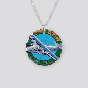 China Clipper Necklace Circle Charm