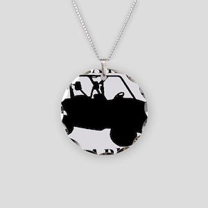 Save Horse BLACK Necklace Circle Charm