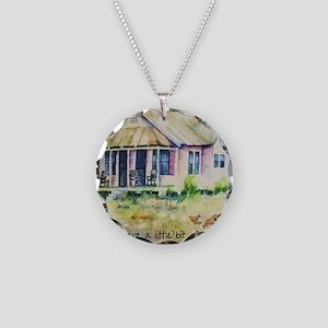 Cousin quote - a little bit  Necklace Circle Charm