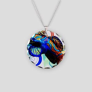 Mandarin Dragonet Necklace Circle Charm