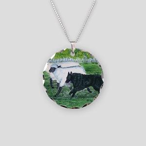 bel shep herd Necklace Circle Charm