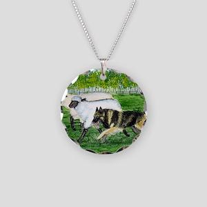 bel terv herd Necklace Circle Charm
