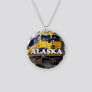 Alaska Railroad Necklace Circle Charm