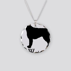 Irish Wolfhound Necklace Circle Charm