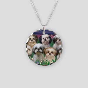 8x10-7 SHIH TZUS-Moonlight G Necklace Circle Charm