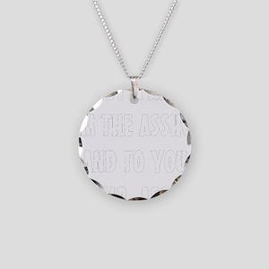ASSHOLE-BLACK Necklace Circle Charm