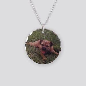 BT puppy Necklace Circle Charm