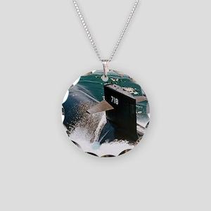 honolulu framed panel print Necklace Circle Charm