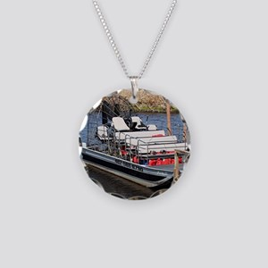 Florida swamp airboat Necklace Circle Charm