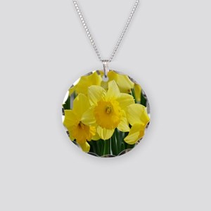 Trumpet Daffodil Necklace Circle Charm