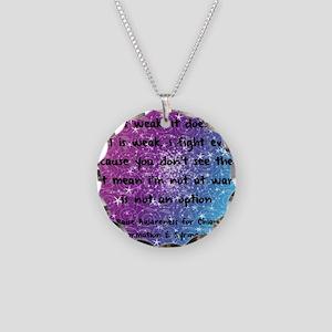 Chiari Syringo Awareness Necklace Circle Charm