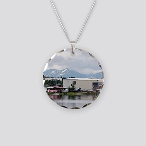 Lake Hood, Alaska, and mount Necklace Circle Charm