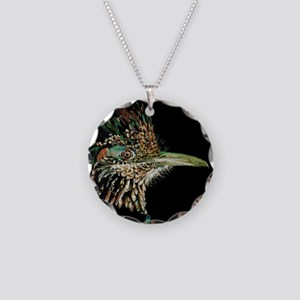 Greater Roadrunner Necklace Circle Charm