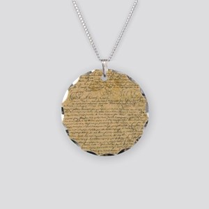 Old Manuscript Necklace