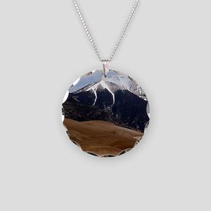 Sand Dunes Colorado Necklace Circle Charm
