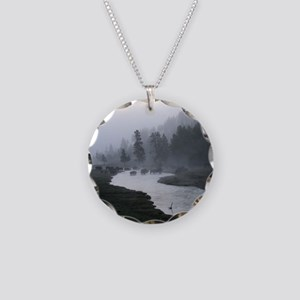 Bison Crossing Necklace Circle Charm