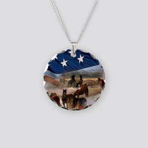 American Wild Necklace Circle Charm