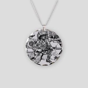 mini poster print Necklace Circle Charm