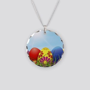 easter eggs Necklace Circle Charm