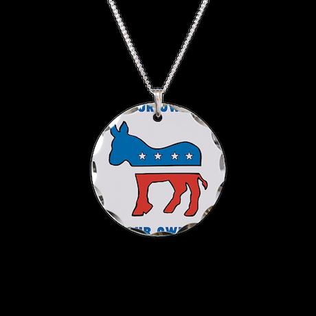 democrat donkey template necklace by diy4