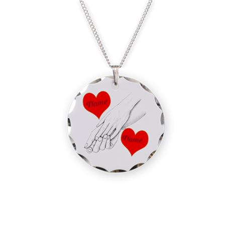 Custom Romance Necklace Circle Charm