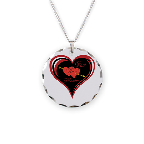 Personalize Me love Heart Necklace Circle Charm