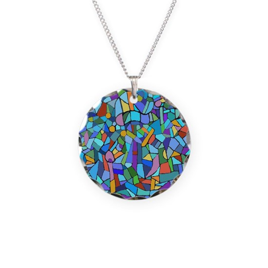Blue abstract mosaic